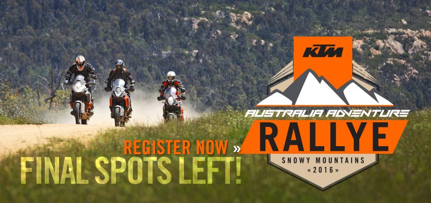 BOOKED OUT KTM RALLYE NOW OPEN TO 150