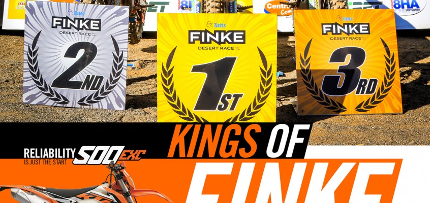 KTM KINGS OF THE DESERT AGAIN, ACHIEVING A STUNNING TRIFECTA