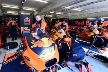 KTM garage, French MotoGP 2017
