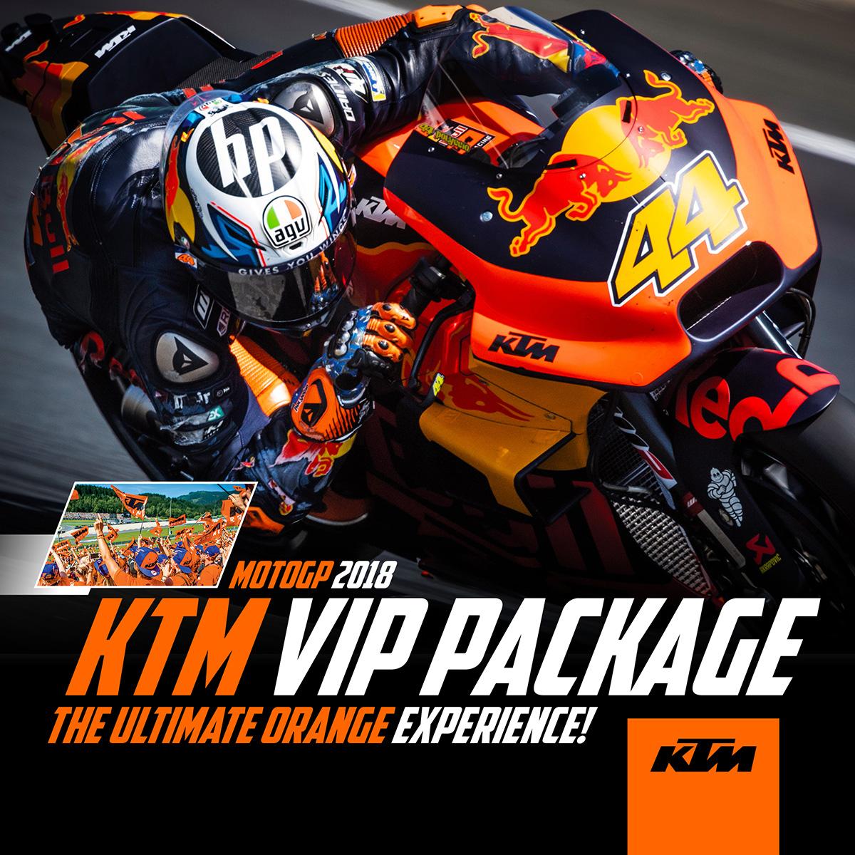Motogp 2018: KTM VIP PACKAGE: MotoGP 2018